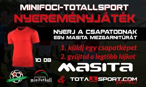 Minifoci X Totallsport nyereményjáték